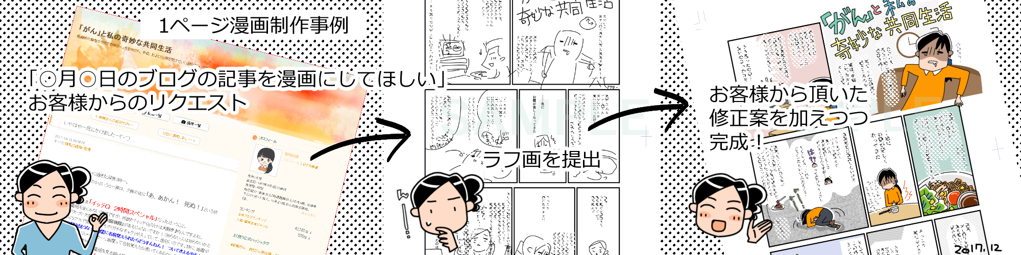 「がん」と私の奇妙な共同生活/1ページ漫画