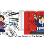 卓球戦術カードゲーム、TToTT(トット)イラスト