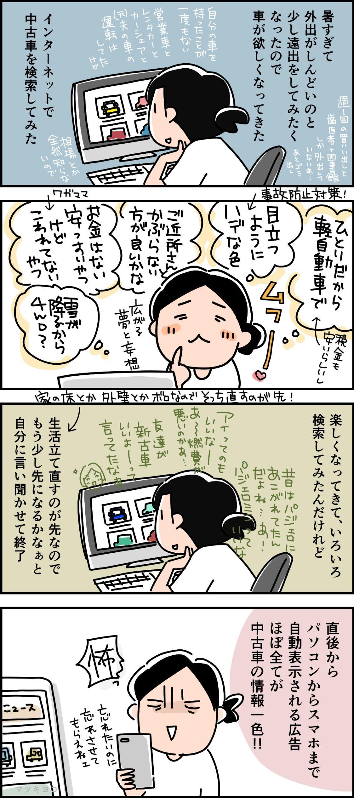 【マンガ】車が欲しい! (かもしれない)