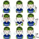 【イナーメ・スポーツアロマ ~ アスリートをサポート】 / 似顔絵9種セット