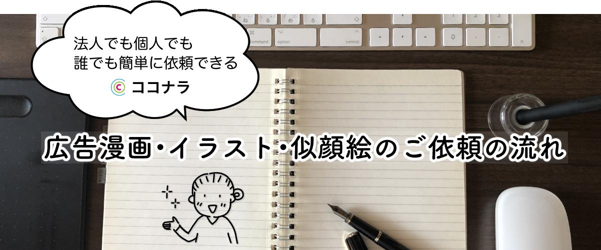 広告漫画・イラスト・似顔絵のご依頼の流れ
