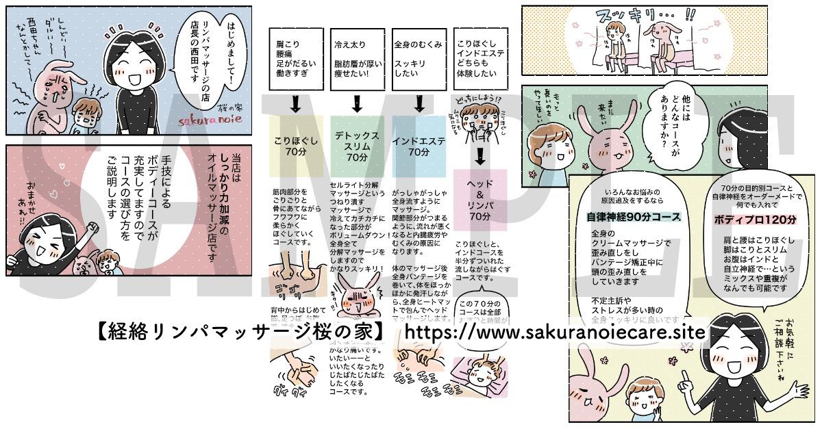 【経絡リンパマッサージ桜の家】様 / 漫画制作