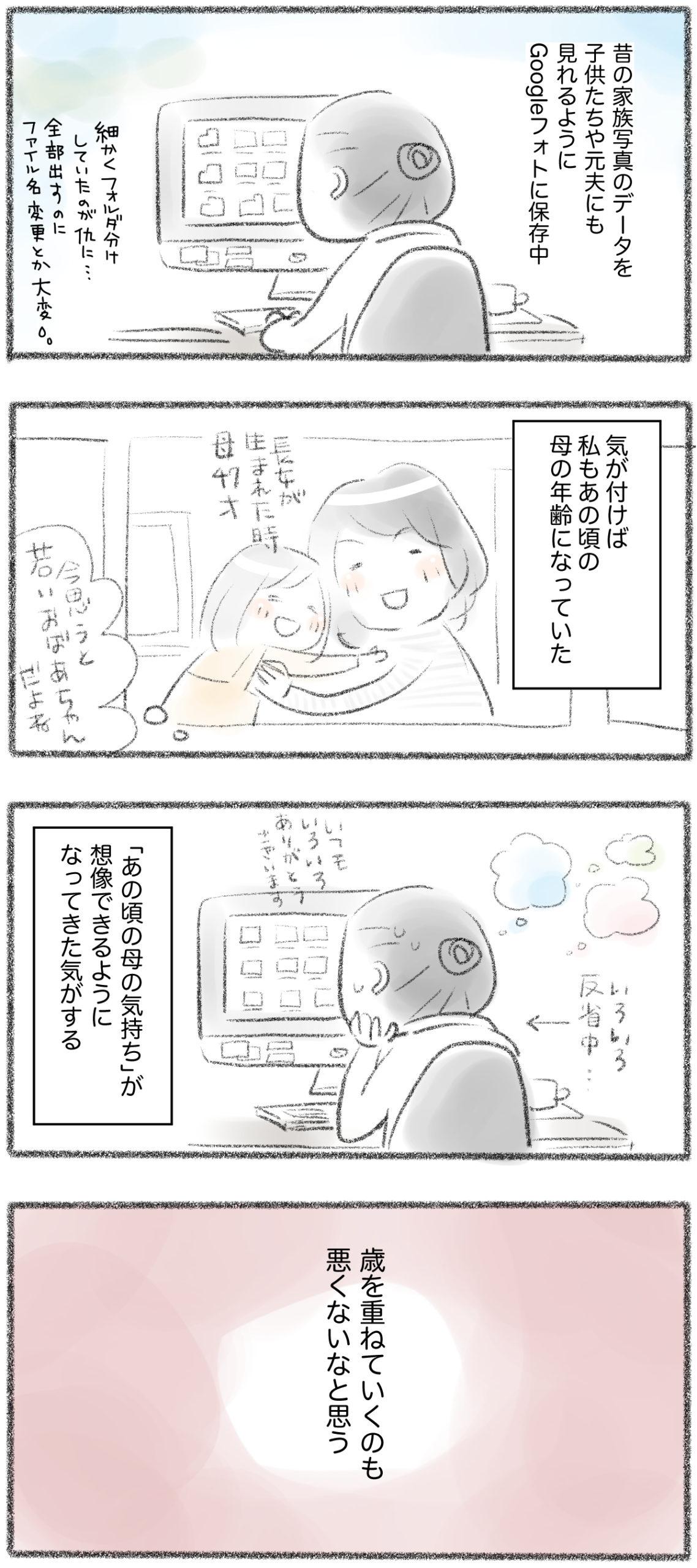 【マンガ】母の年に近づく